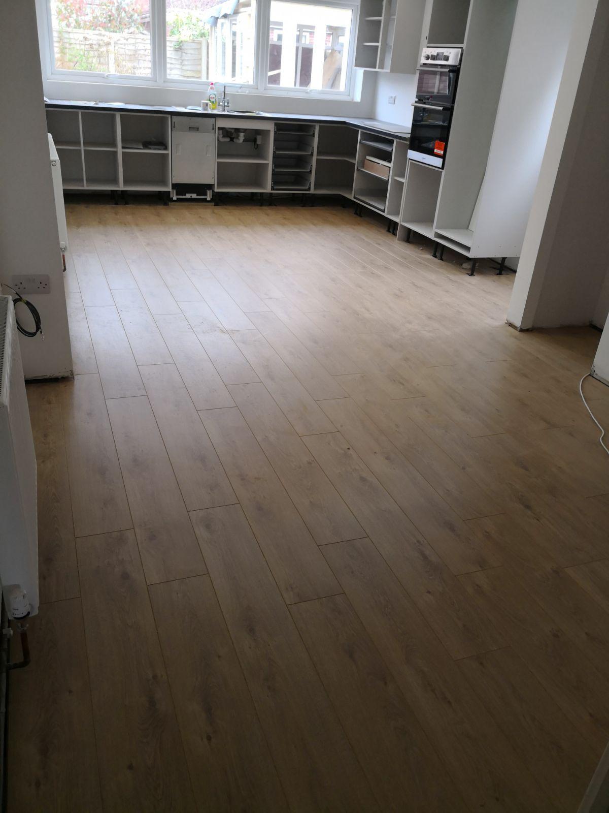 Underfloor Heating Carpet >> Kitchen - Dining Area - Laminate Floor Installation | The ...